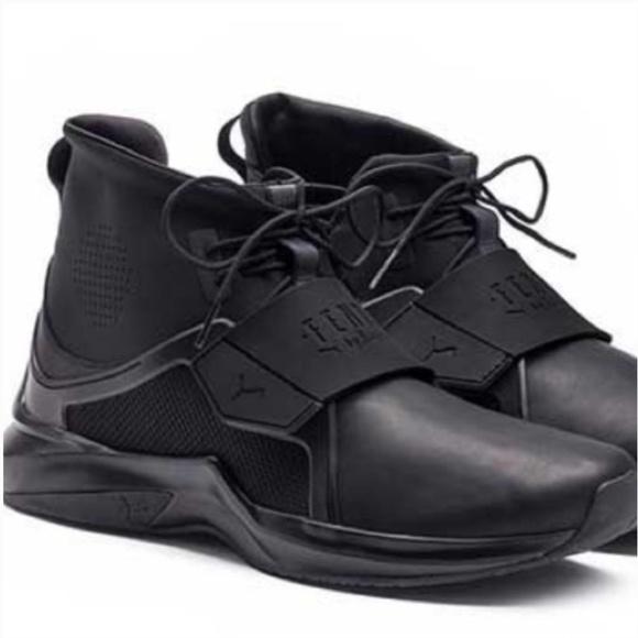 sale retailer 87199 e7043 FENTY PUMA Black Hi Trainer Sneakers 8 NIB Rihanna Boutique